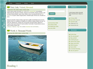 Plantilla wordpress gratis Bluesea
