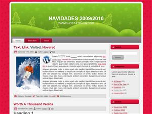 NAVIDAD 2009/2010 PLANTILLA WORDPRESS GRATIS
