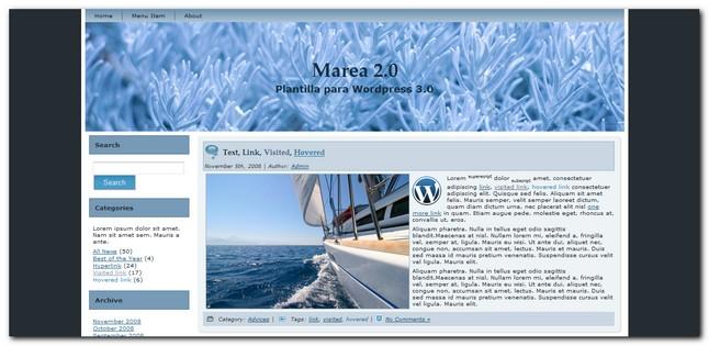 Marea 2.0 Plantilla para WordPress 3.0