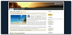 Viajar 2.0 Blog de Viajes, Plantilla WordPress 3.0