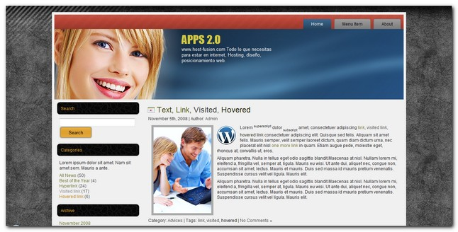 Plantilla para wordpress apps 2.0