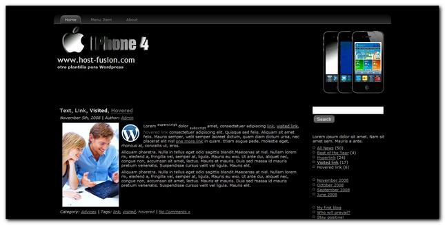 Iphone 4.0 Plantilla para WordPress 3.0