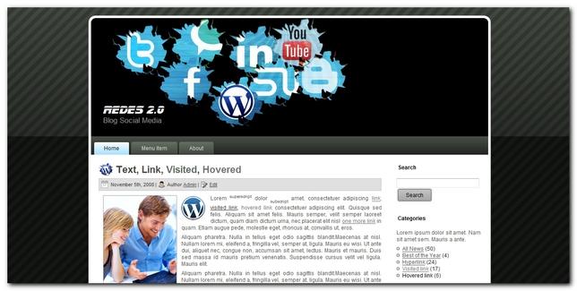 Redes 2.0 nueva plantilla para wordpress
