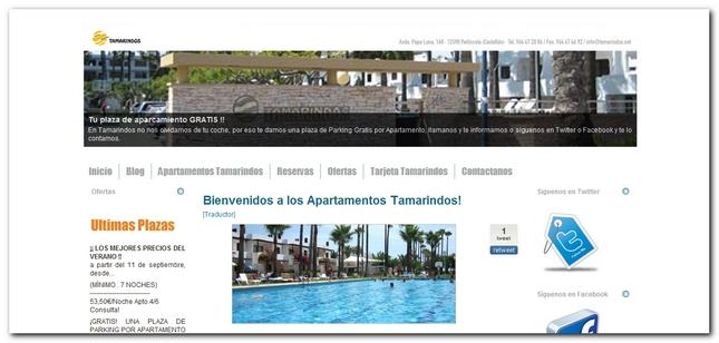 Nueva web de Apartamentos Tamarindos