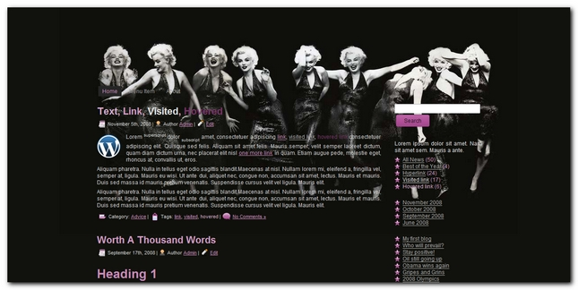 Marilyn 2.0 plantilla para WordPress