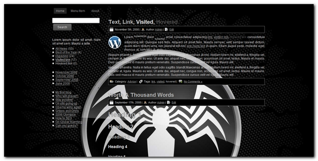 Spider 2.0 Plantilla para wordpress