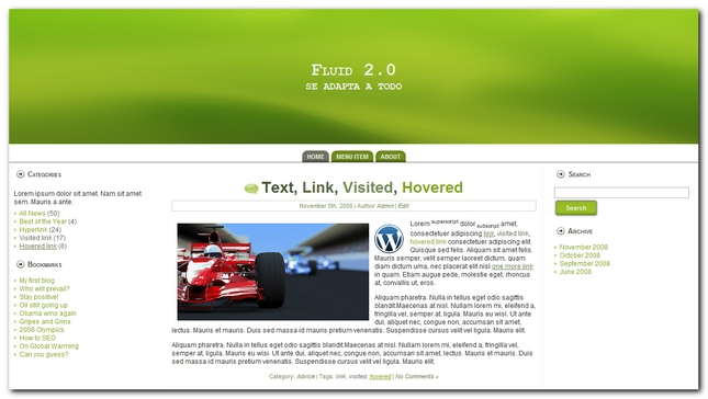 Fluid 2.0 nuevo theme para wordpress 3.0