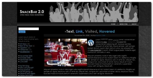 SnackBar 2.0 otra plantilla gratis para WordPress