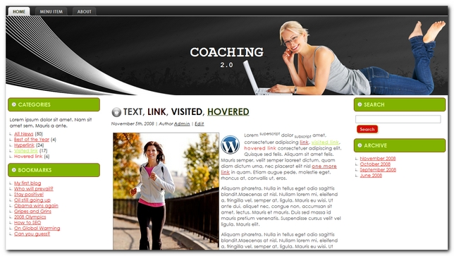 Coaching 2.0 Plantilla para wordpress