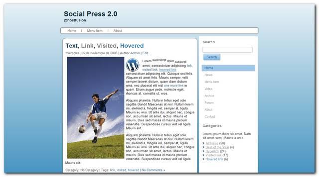 Theme premium wordpress Social Press 2.0
