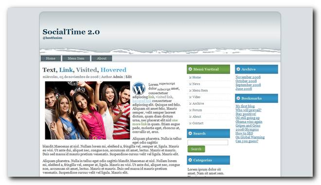 SocialTime 2.0 Nuevo theme para wordpress 3.1