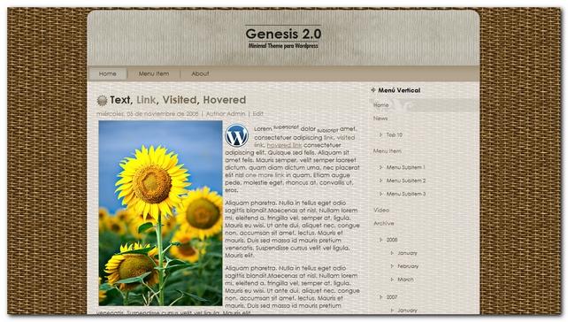 Genesis 2.0 Plantilla gratis para wordpress