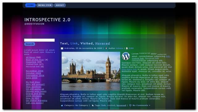 Plantilla Gratis para WordPress Introspective 2.0