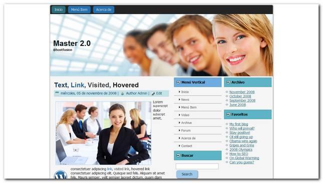 Nuevo Theme para WordPress 3, Master 2.0