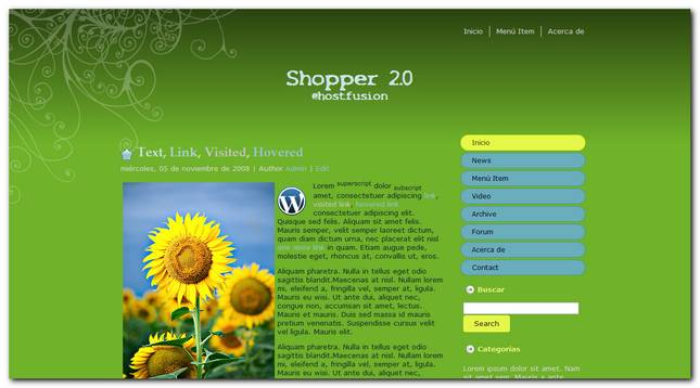 Nuevo theme para WordPress Shopper 2.0