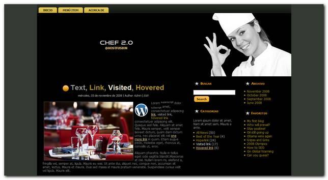 Chef 2.0 nuevo theme premium para WordPress