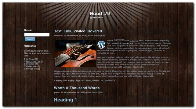 wood 2.0 nuevo theme premium para WordPress