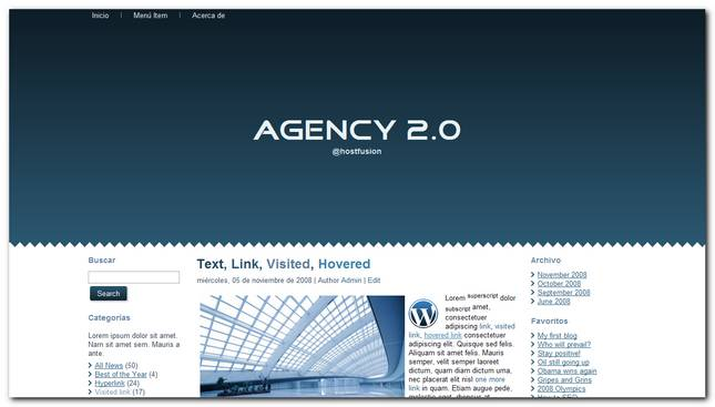 Agency 2.0 nuevo Theme Premium WordPress