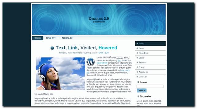 Circulos 2.0 nueva plantilla gratis para WordPress