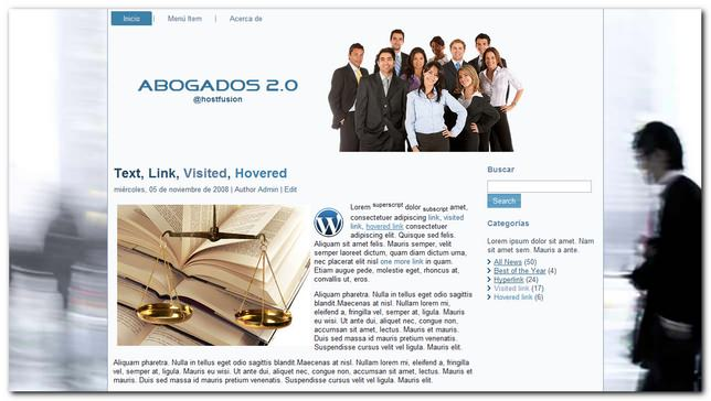 Abogados 2.0 Theme Premium WordPress