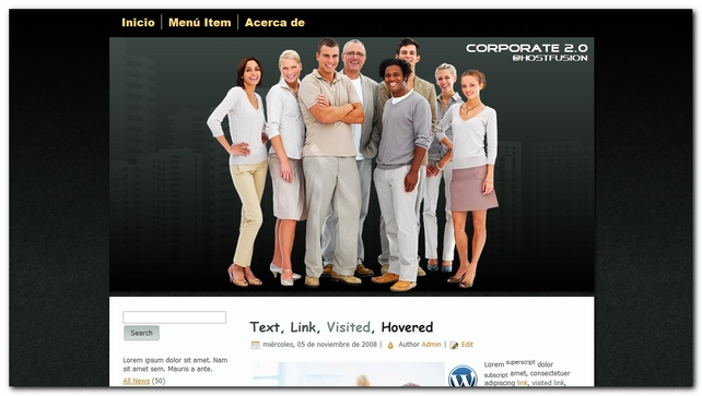 Corporate 2.0 theme premium para WordPress