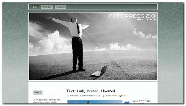 fotopress nueva plantilla para WordPress gratis