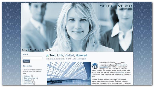 Plantilla gratis para WordPress, selective 2.0