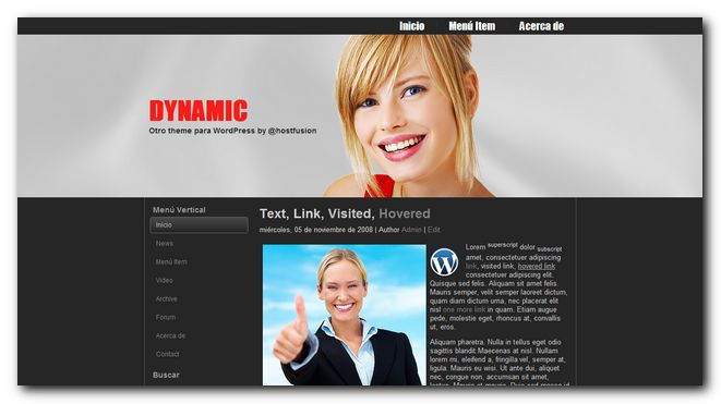 Dynamic 2.0 theme premium para WordPress