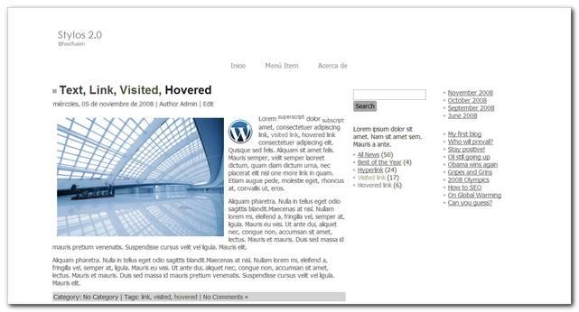 Stylos 2.0 Nuevo Theme premium Gratis para WordPress