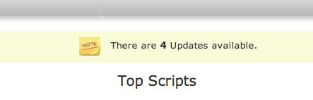 actualizaciones de scripts