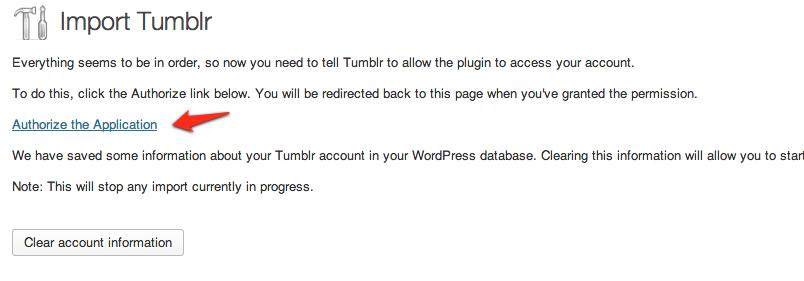 Conectar con Tumblr