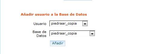 Añadir usuario a la BBDD
