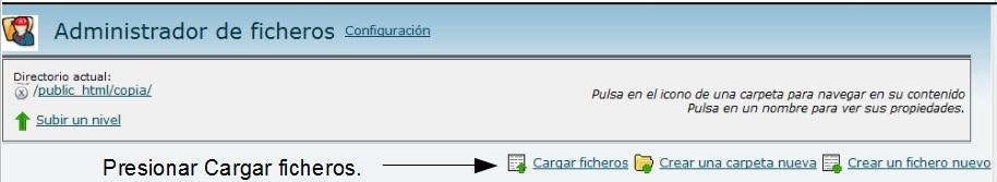 Cargar ficheros