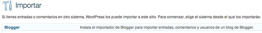 importar blogger