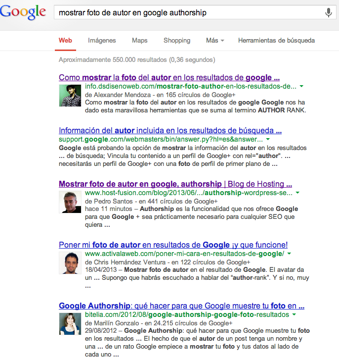 Ranking Google authorship