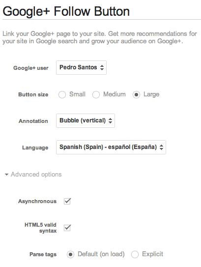 configurar boton google +