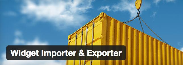 Exportar e importar Widget en WordPress