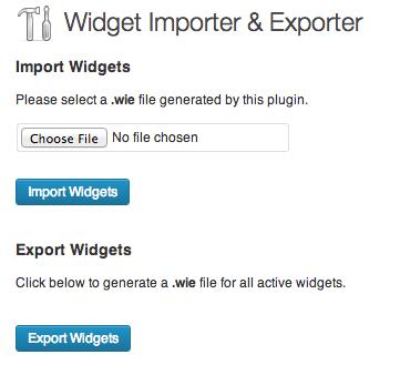 exportar widgets