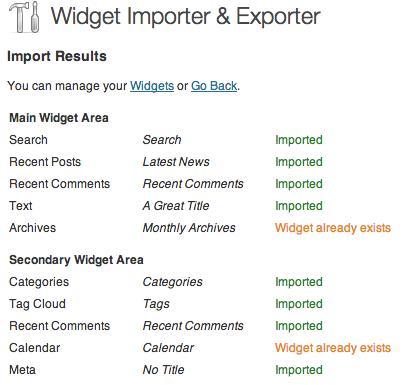 importar widgets