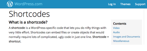 Shortcodes para WordPress