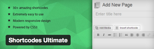 Shortcodes ultimate para WordPress
