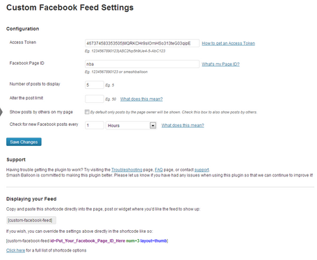 interfaz custom feed facebook