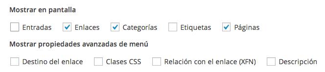 Menú de navegación de WordPress