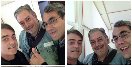 Selfie Cambronero, Tellado y Pedro Santos
