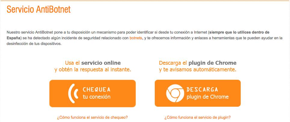 Servicio anti botnet