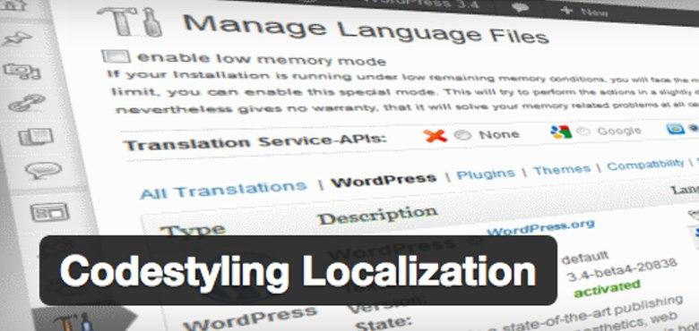 codestyling traducir WordPress