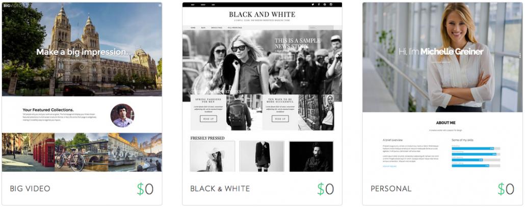 Themes gratuitos para WordPress