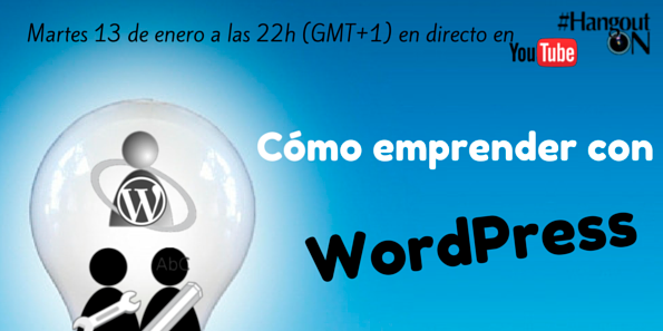 Hangout emprender con WordPress