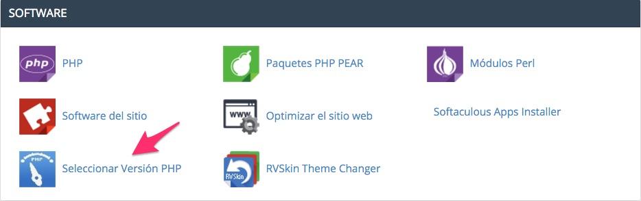 Selector de php 7