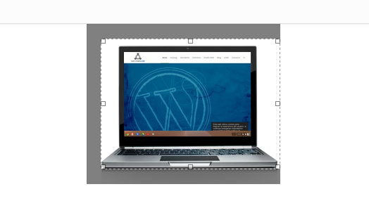 Recortar logo en WordPress